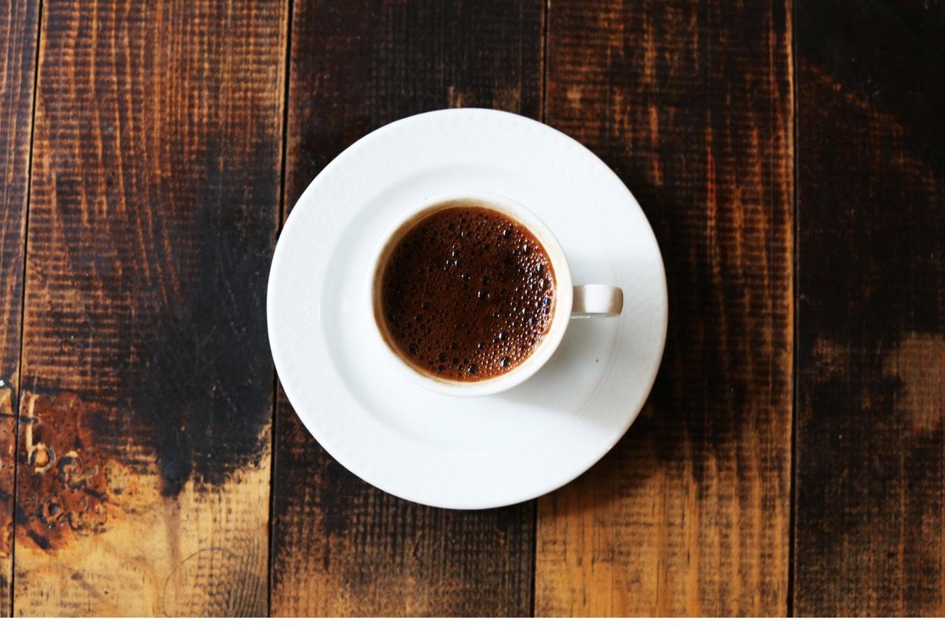 Spor öncesi bir fincan kahve